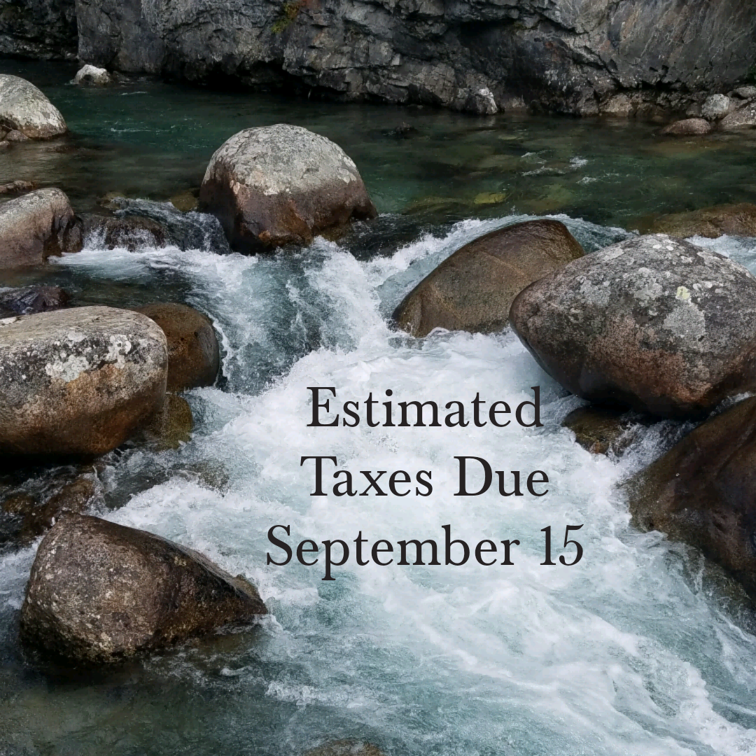 Estimated Taxes Due September 15